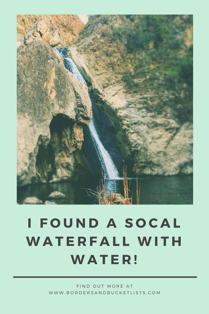 SoCal waterfall with water pin