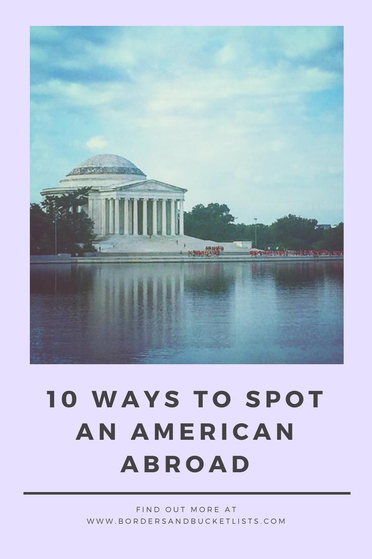 Spot an American Abroad Pin
