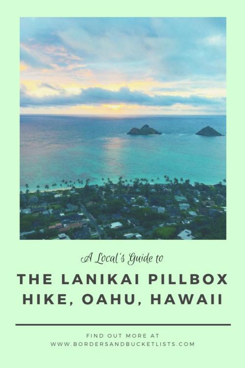 Lanikai Pillbox Hike Pin #lanikai #lanikaipillbox #lanikaipillboxhike #hike #hawaii #oahu #oahuhike