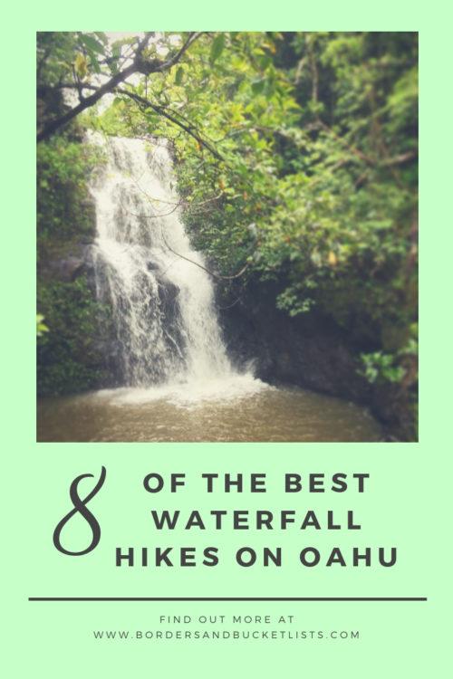 8 Waterfall Hikes on Oahu #waterfalls #hawaiiwaterfalls #hawaii #waterfallhikes #oahu #oahuwaterfalls