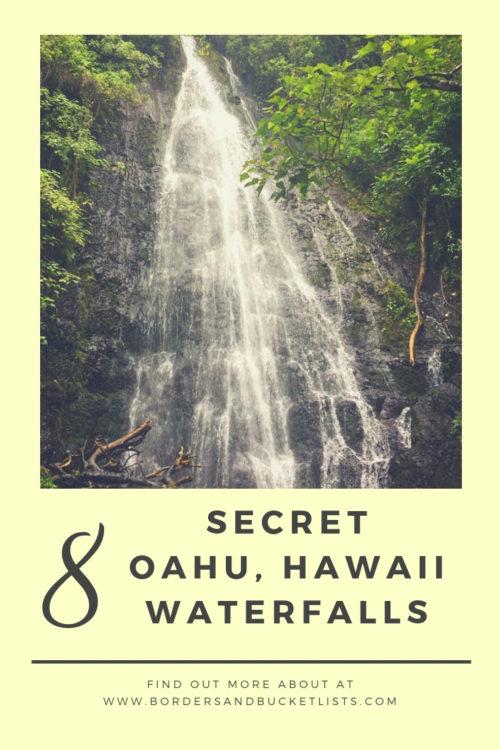 8 Secret Oahu Waterfalls #waterfalls #hawaiiwaterfalls #hawaii #waterfallhikes #oahu #oahuwaterfalls