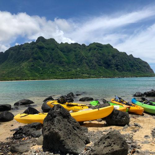Chinaman's Hat Group of Kayaks