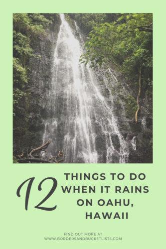 Things to Do When it Rains on Oahu #oahu #hawaii