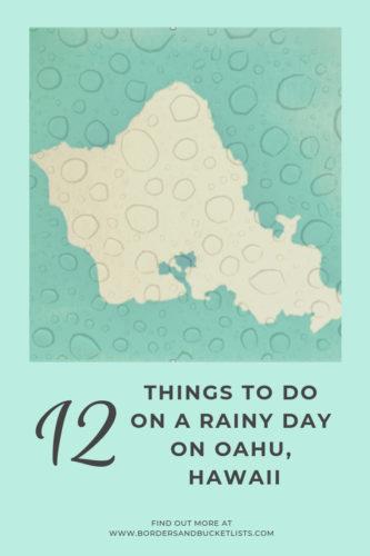 12 Things to Do on a Rainy Day on Oahu, Hawaii #oahu #hawaii