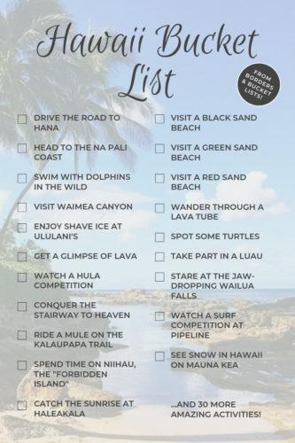 Hawaii Bucket List #hawaii #oahu #maui #kauai #lanai #molokai #hawaiibucketlist