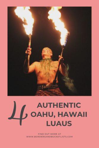 4 Authentic Oahu, Hawaii Luaus #oahu #hawaii #luau