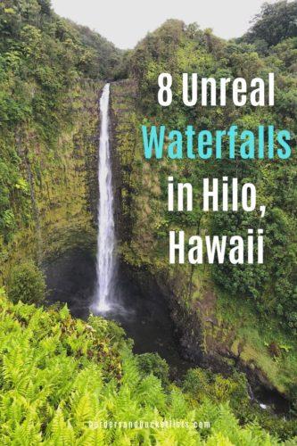 8 Unreal Waterfalls in Hilo, Hawaii #hilo #hawaii #bigisland #kona #waterfalls