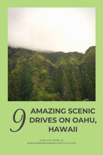 9 Amazing Scenic Drives on Oahu, Hawaii #oahu #hawaii #scenicdrives #drives #views