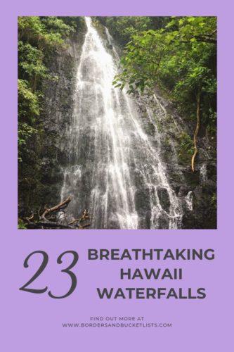 23 Breathtaking Hawaii Waterfalls #hawaii #waterfall #oahu #maui #molokai #bigisland #kona #hilo #kauai
