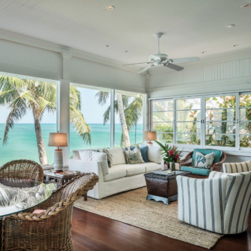 beach front living room area