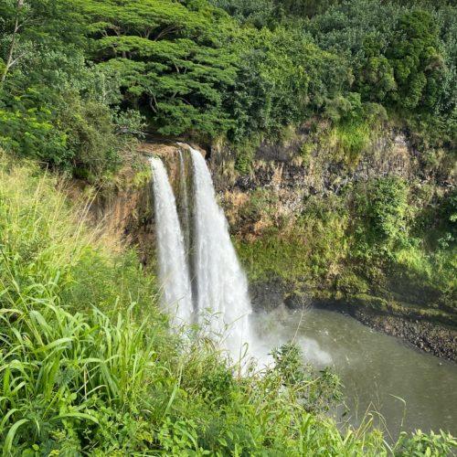 Wailua Falls side angle