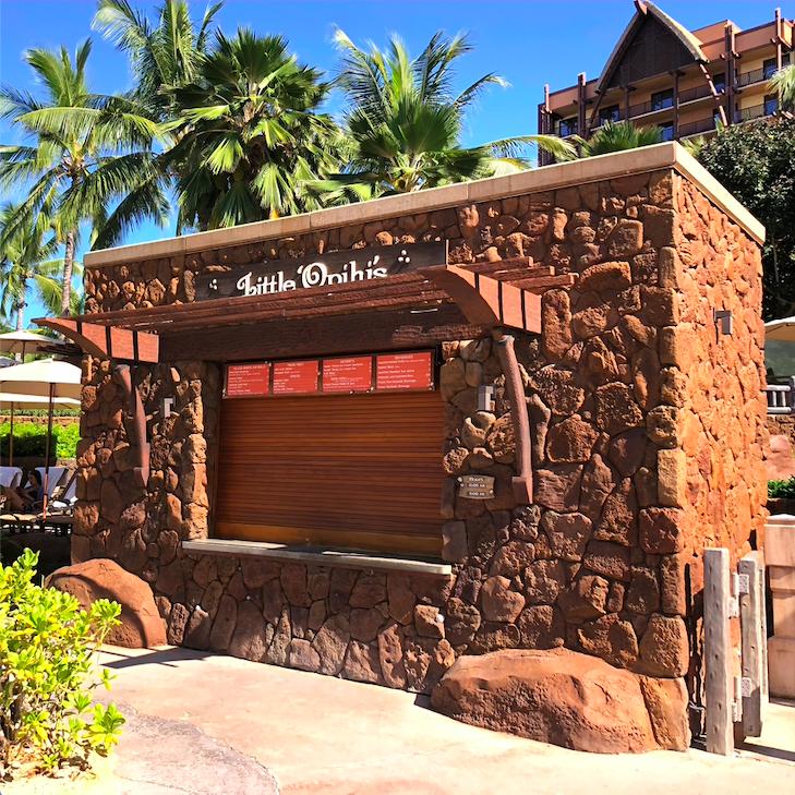 lava rock structure closed food stand Ko Olina restaurants