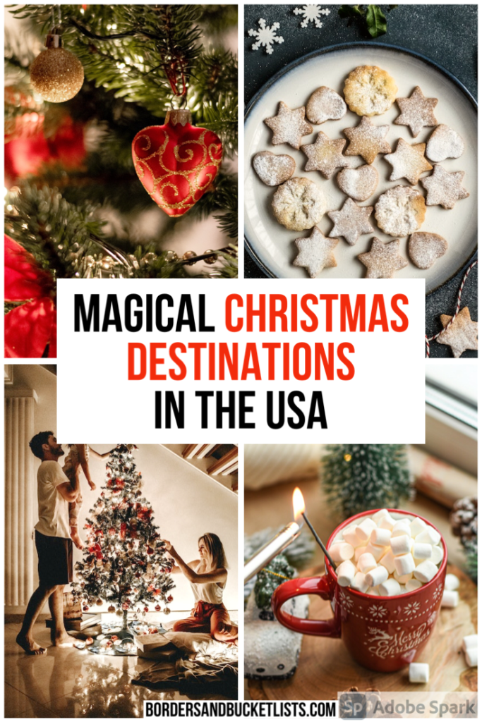 Christmas in the USA, Christmas destinations, Christmas destinations in the US, Christmas destinations with kids, Christmas trips, Christmas trips with kids, Christmas trips for families, Christmas vacations, Christmas trips USA, Christmas vacations in the USA, holiday trips, holiday destinations #christmas