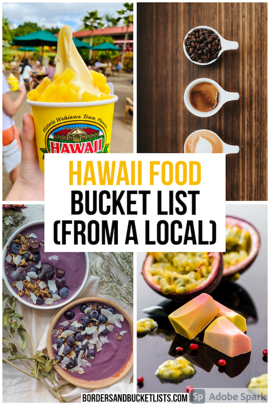 Hawaii food, food in Hawaii, foods to try in Hawaii, what to eat in Hawaii, best Hawaii food, Hawaii restaurants, restaurants in Hawaii, things to do in Hawaii, food in Hawaii Oahu, food in Hawaii Maui, food in Hawaii Big Island #hawaii #food #bucketlist