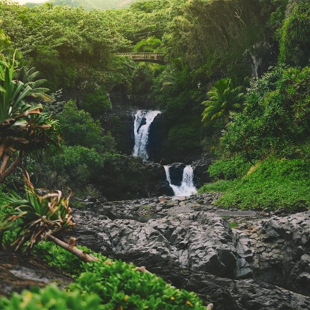 oheo gulch waterfalls Maui