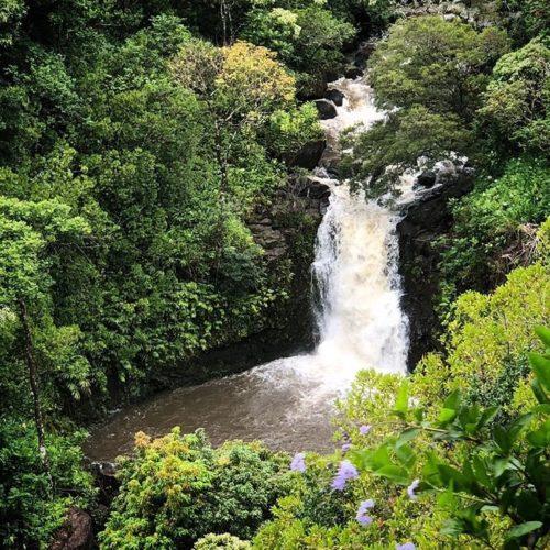 Garden of Eden waterfall on Maui