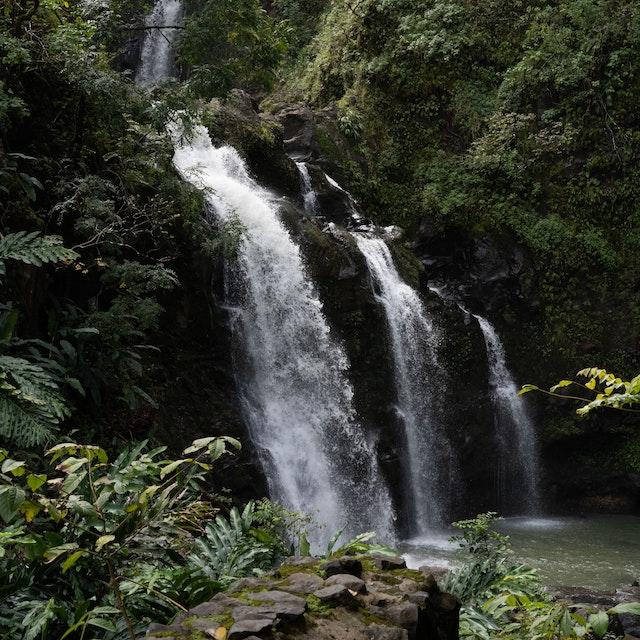 Upper Waikani Falls Three Bears Falls best Maui waterfalls