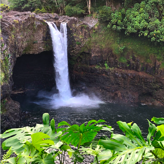 Rainbow Falls in front of cave things to do in Hilo
