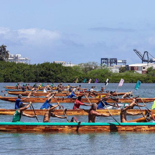 canoe race in Hawaii