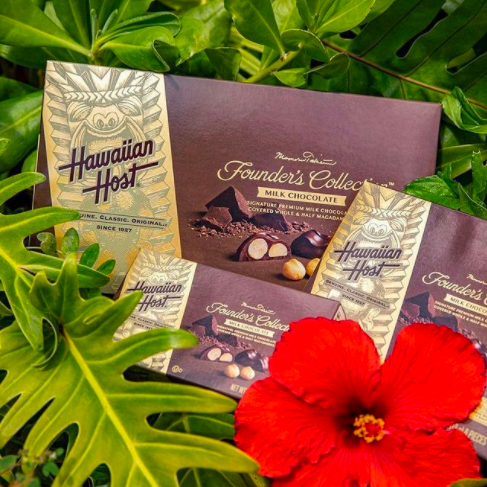 set of chocolate boxes from Hawaiian Host and ABC Stores