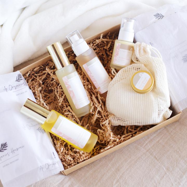 Hawaii spa gift basket from Ao Organics