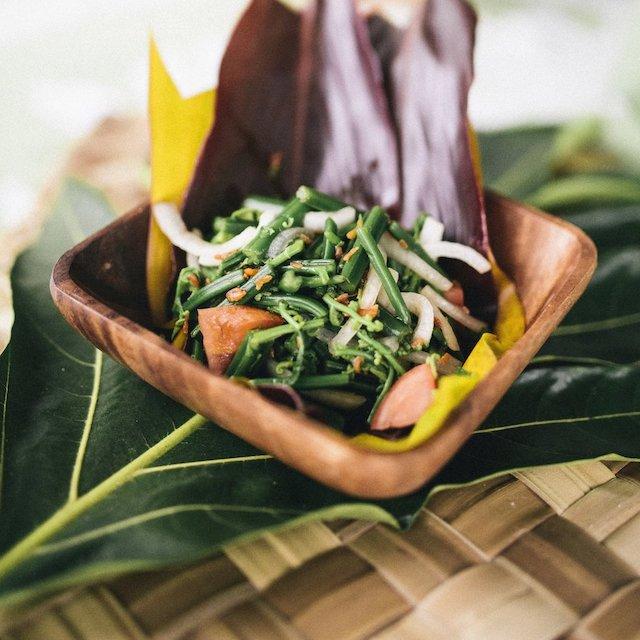 hoio (fern) salad from Waiahole Poi Factory